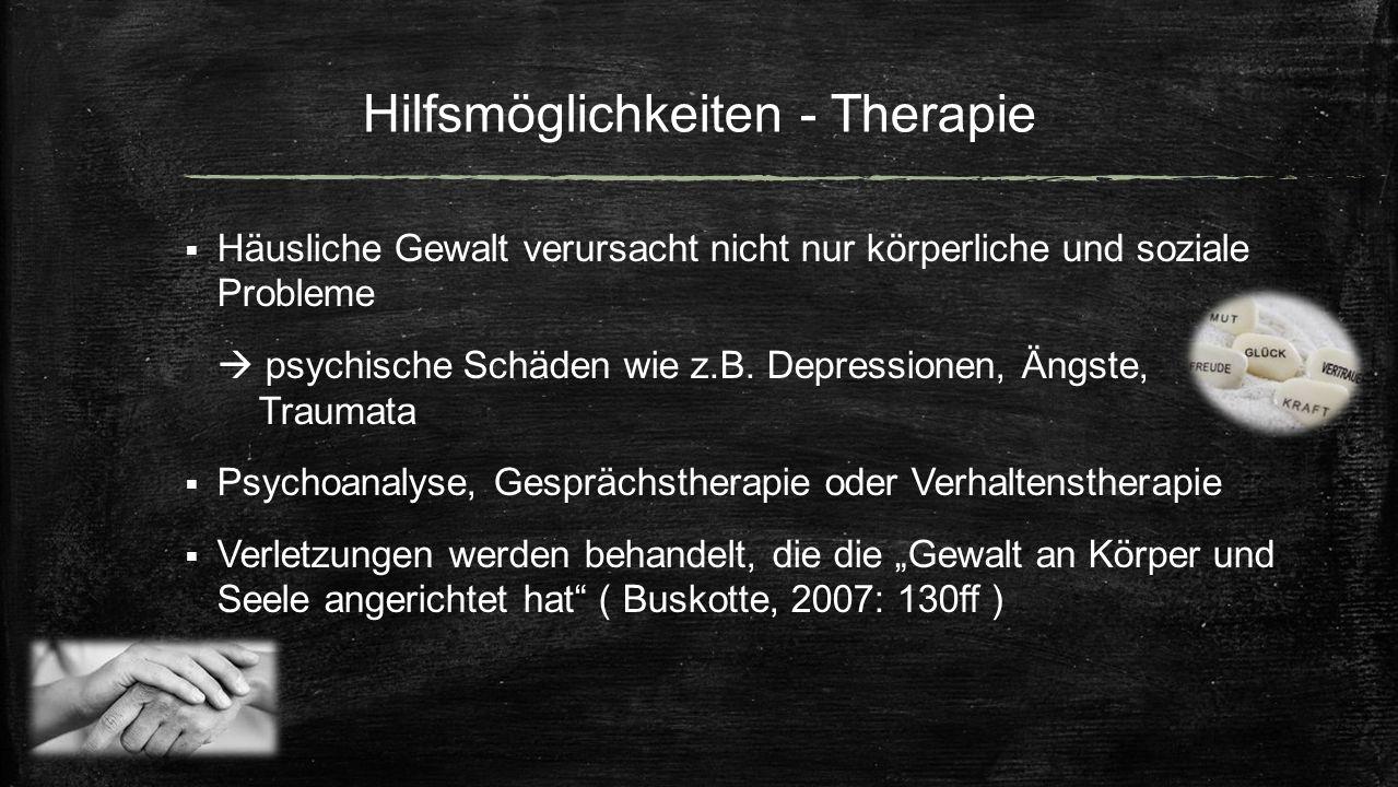 Hilfsmöglichkeiten - Therapie