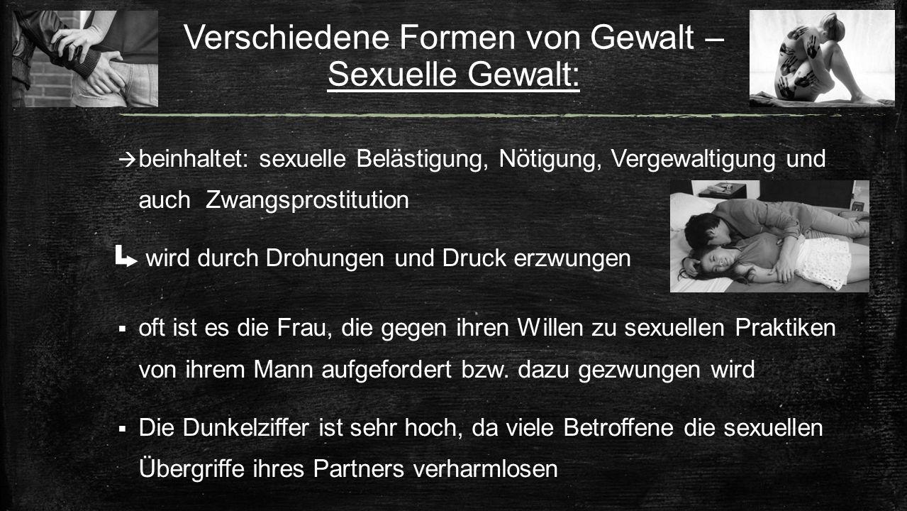 Verschiedene Formen von Gewalt – Sexuelle Gewalt:
