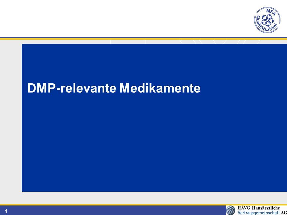DMP-relevante Medikamente