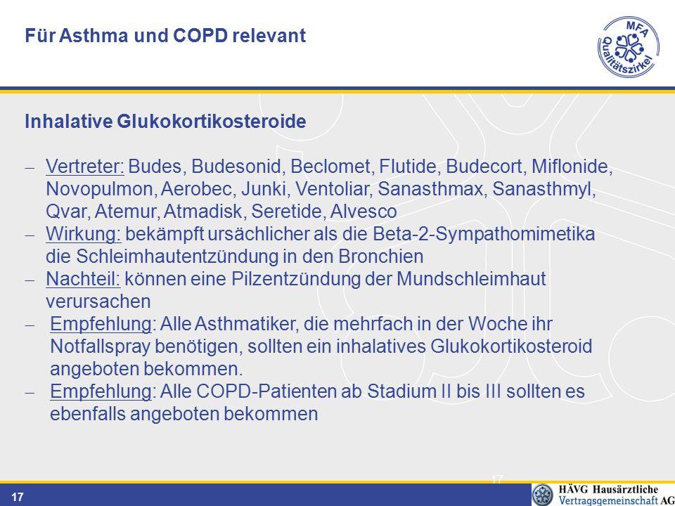 Für Asthma und COPD relevant