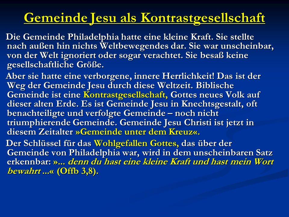 Gemeinde Jesu als Kontrastgesellschaft