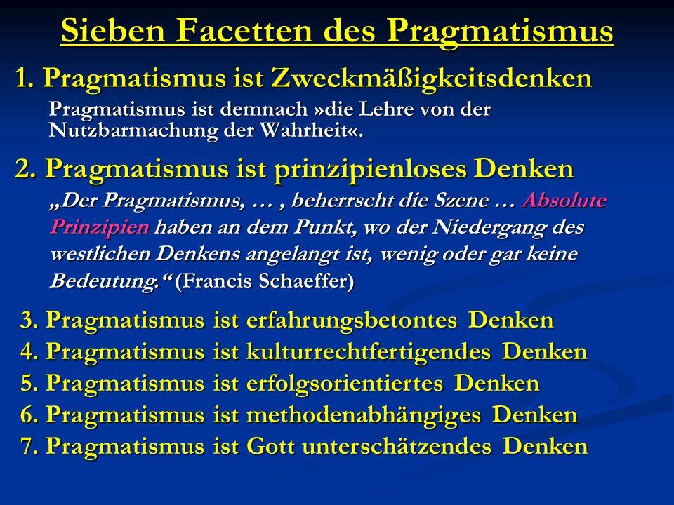 Sieben Facetten des Pragmatismus