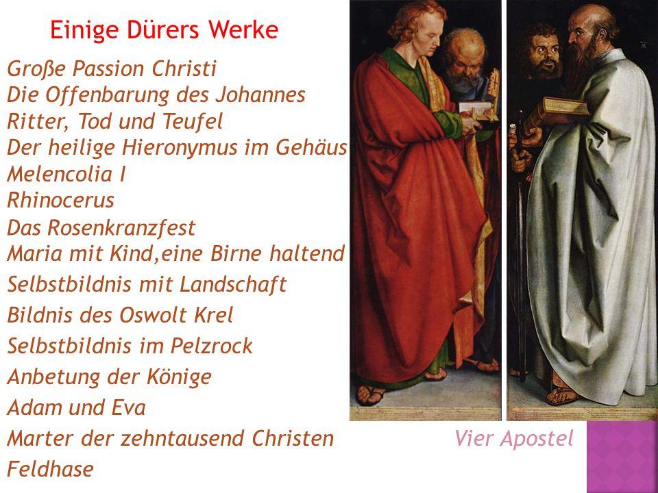 Einige Dürers Werke Große Passion Christi Die Offenbarung des Johannes