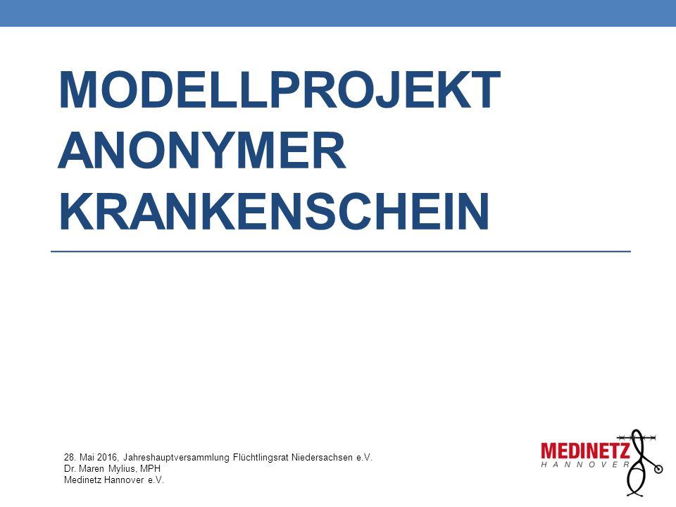 Modellprojekt Anonymer Krankenschein