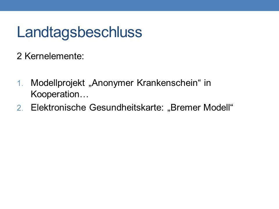 Landtagsbeschluss 2 Kernelemente: