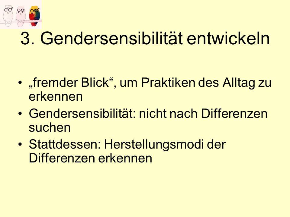 3. Gendersensibilität entwickeln