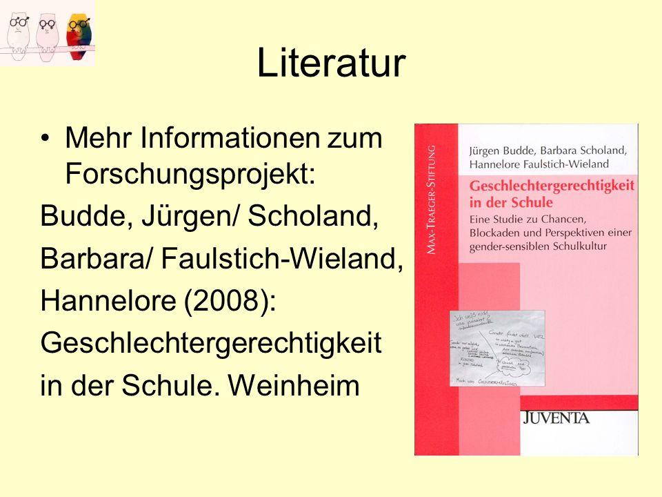 Literatur Mehr Informationen zum Forschungsprojekt: