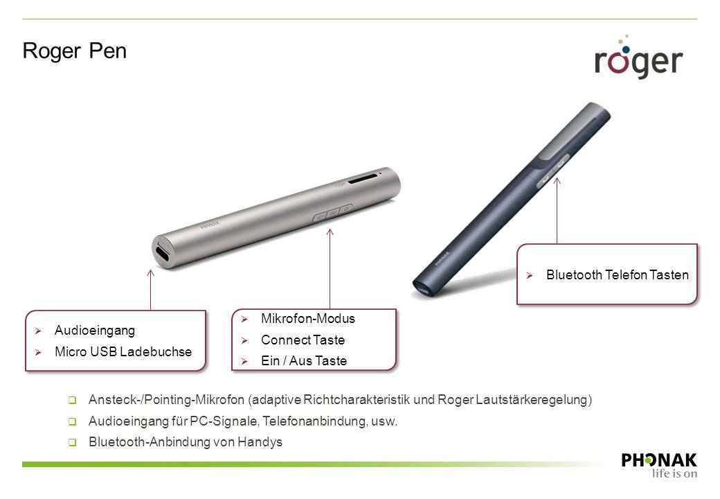 Roger Pen Bluetooth Telefon Tasten Mikrofon-Modus Audioeingang
