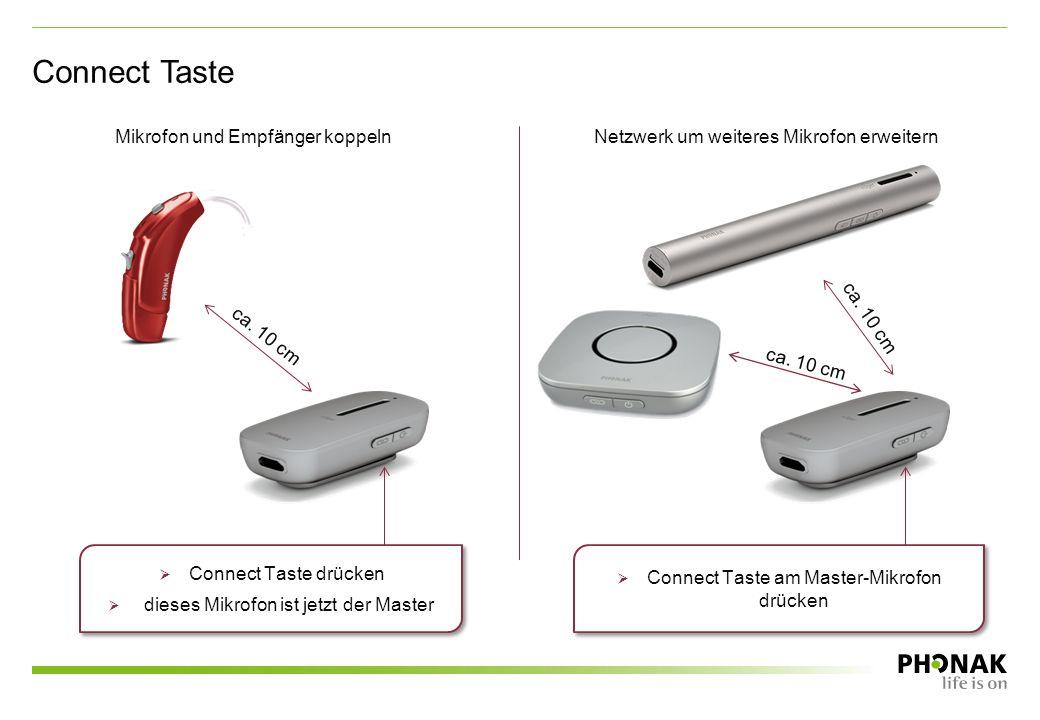 Connect Taste Mikrofon und Empfänger koppeln