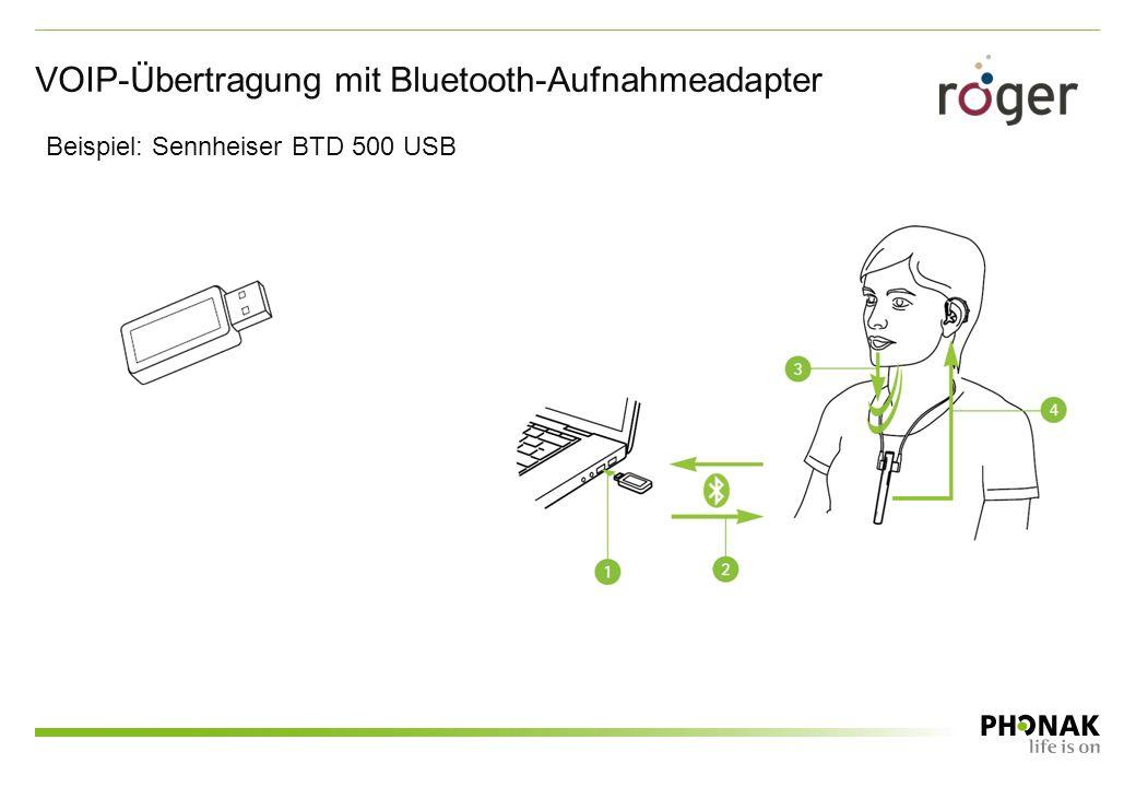 VOIP-Übertragung mit Bluetooth-Aufnahmeadapter