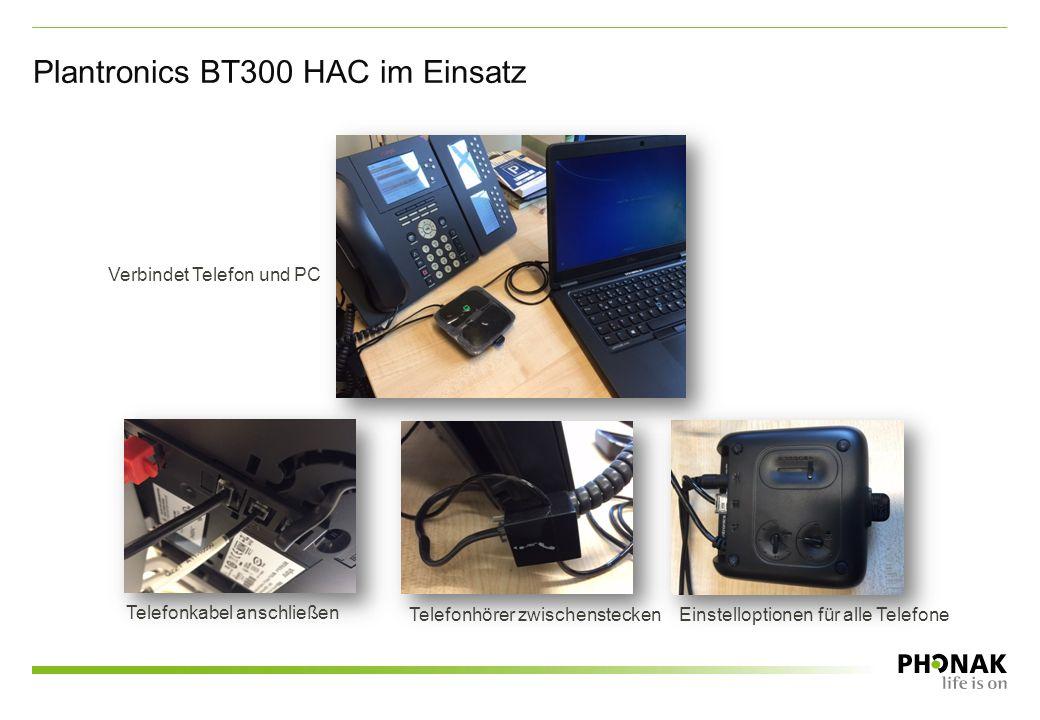 Plantronics BT300 HAC im Einsatz