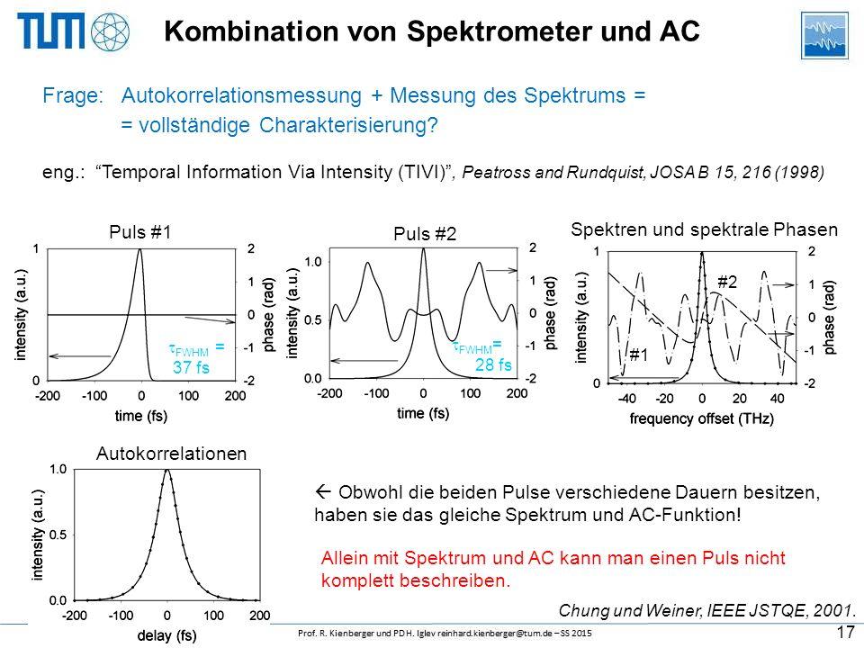 Kombination von Spektrometer und AC