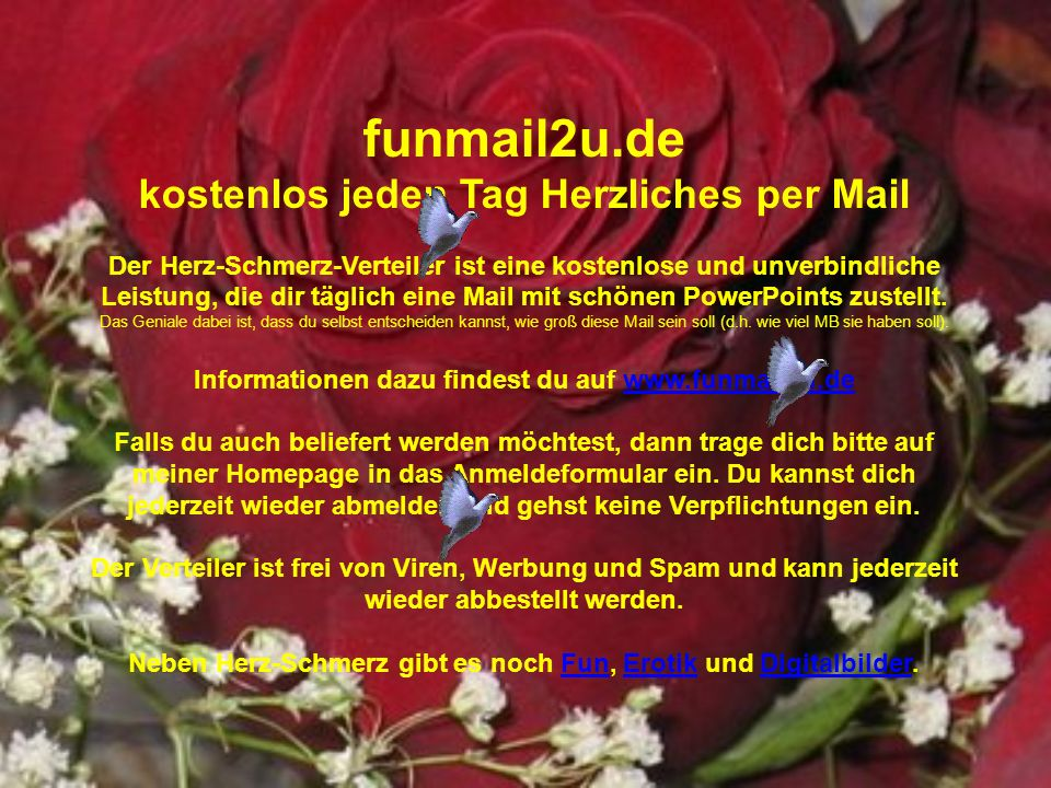 funmail2u.de kostenlos jeden Tag Herzliches per Mail