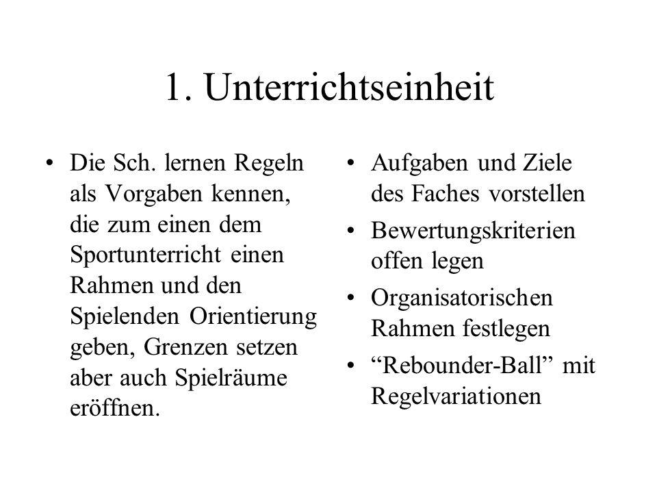 1. Unterrichtseinheit