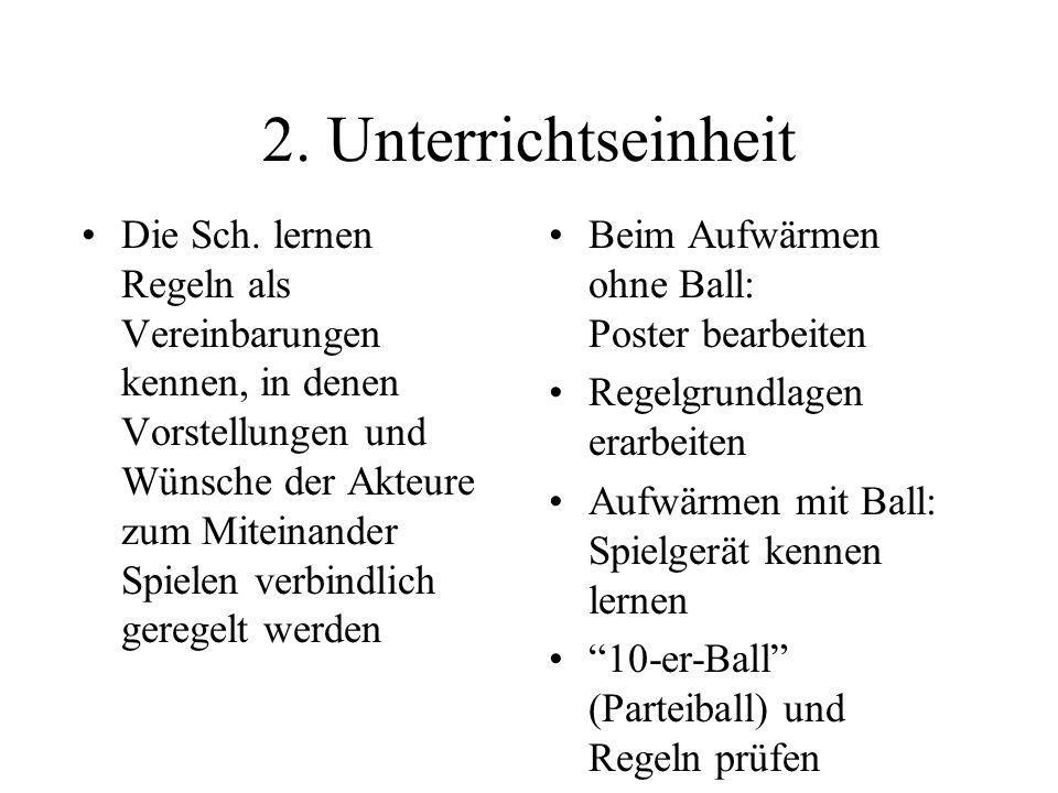 2. Unterrichtseinheit