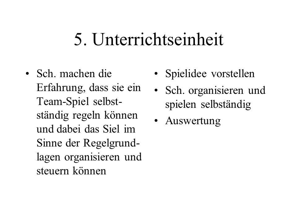 5. Unterrichtseinheit