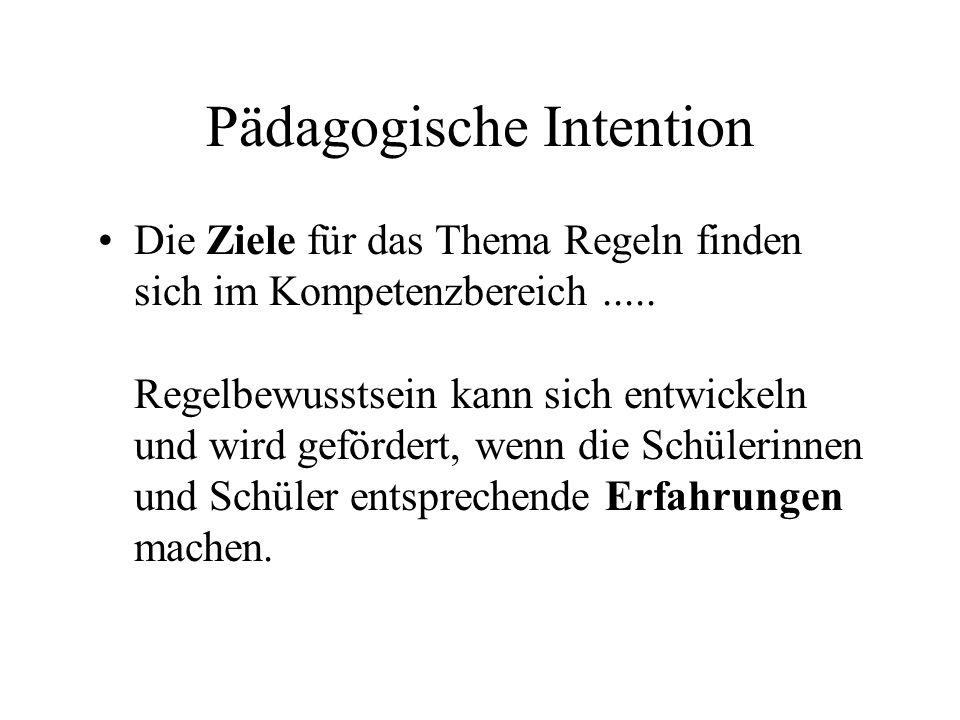Pädagogische Intention