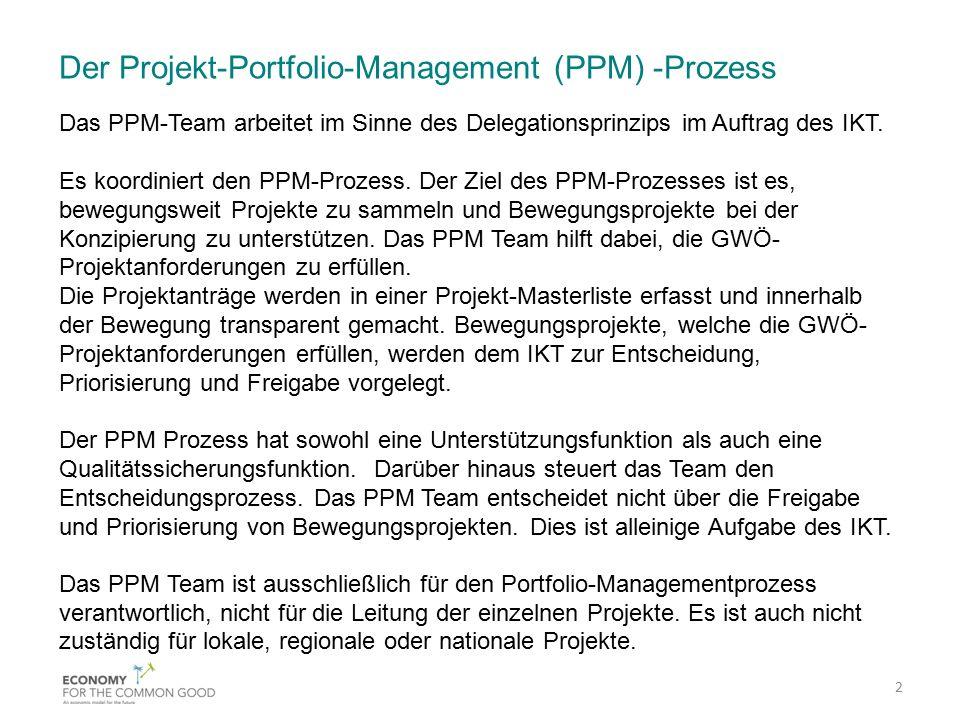 Der Projekt-Portfolio-Management (PPM) -Prozess