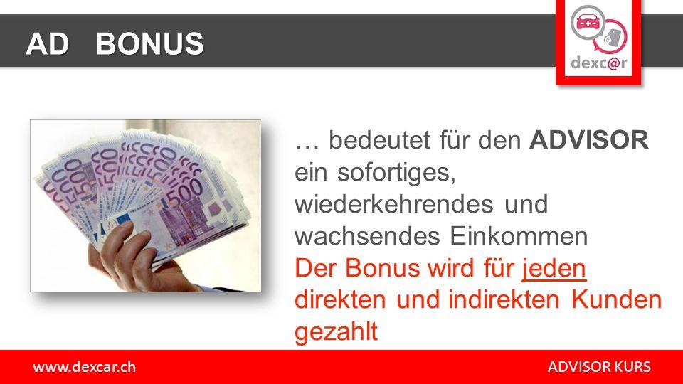 www.dexcar.ch ADVISOR KURS