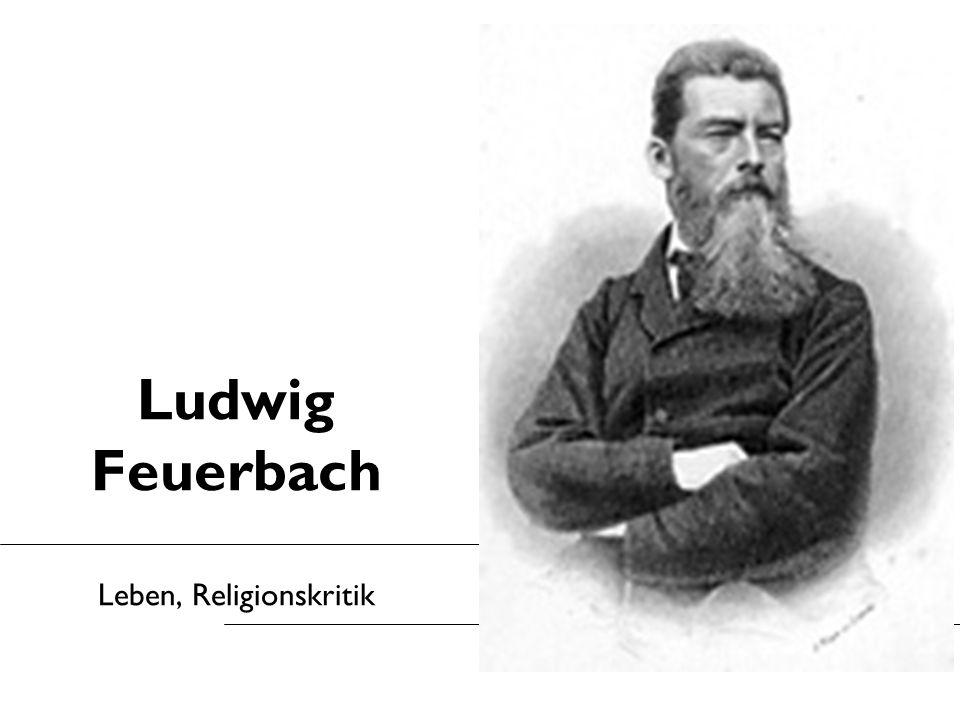 Ludwig Feuerbach Leben, Religionskritik