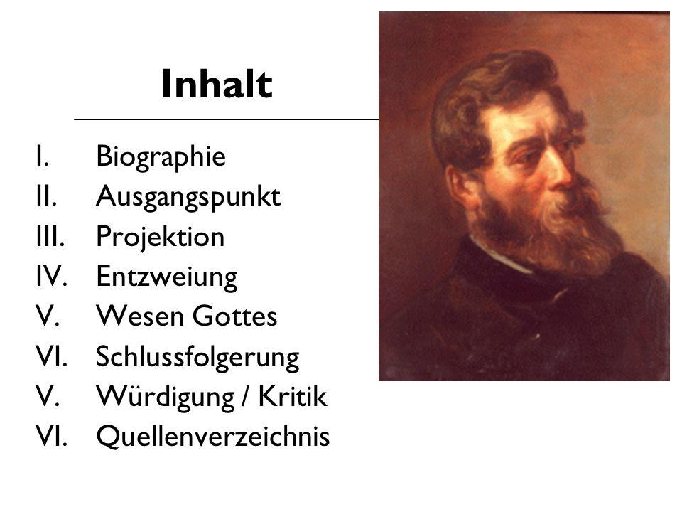 Inhalt I. Biographie II. Ausgangspunkt Projektion Entzweiung