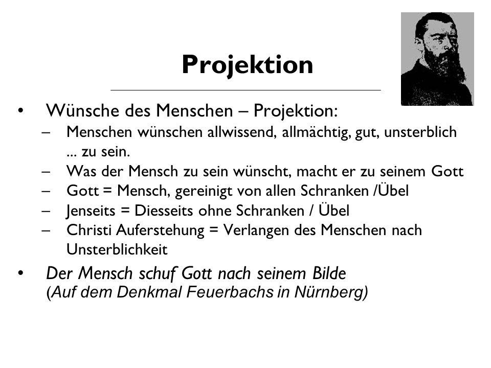 Projektion Wünsche des Menschen – Projektion: