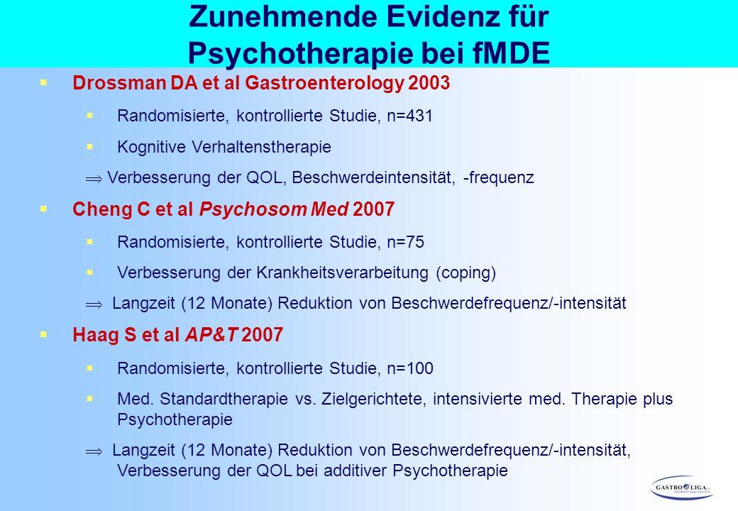 Zunehmende Evidenz für Psychotherapie bei fMDE