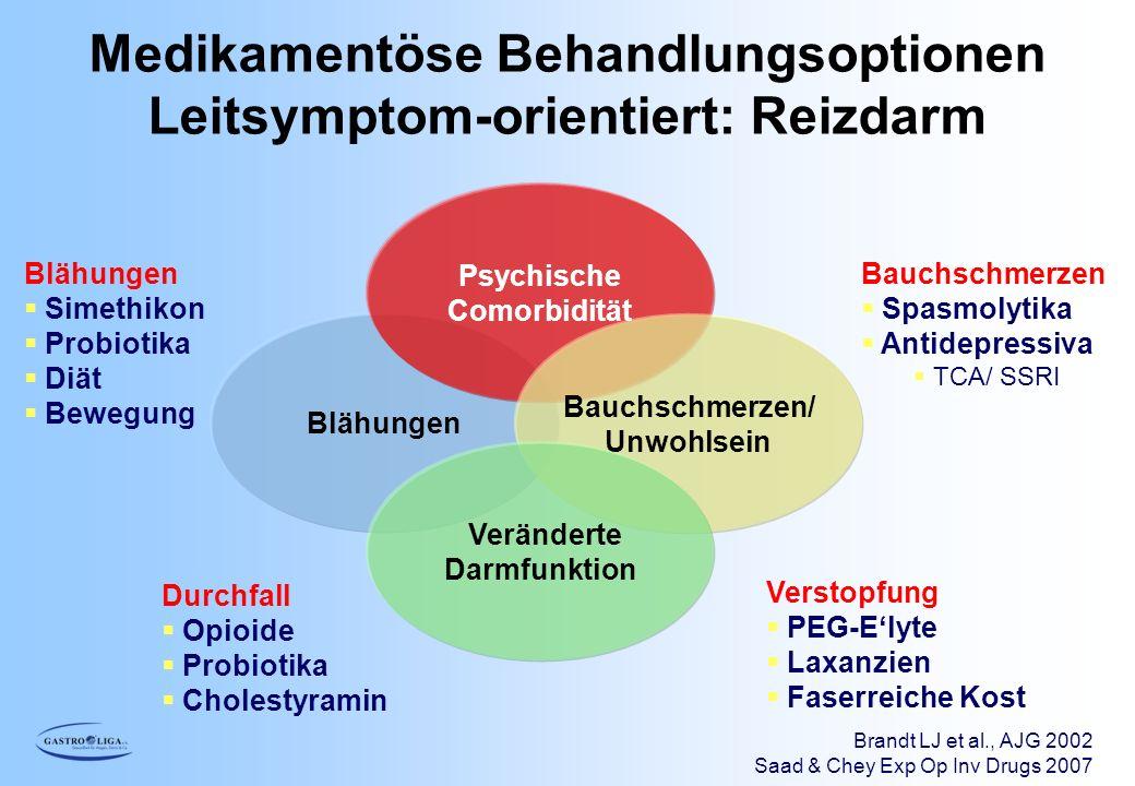 Medikamentöse Behandlungsoptionen Leitsymptom-orientiert: Reizdarm