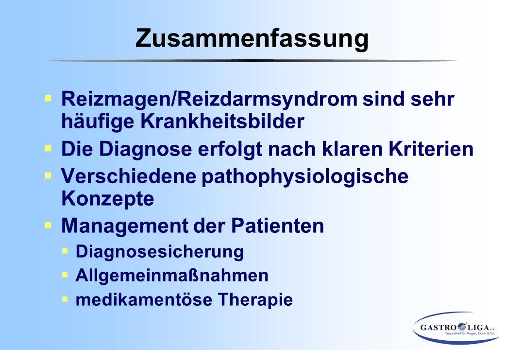 Zusammenfassung Reizmagen/Reizdarmsyndrom sind sehr häufige Krankheitsbilder. Die Diagnose erfolgt nach klaren Kriterien.