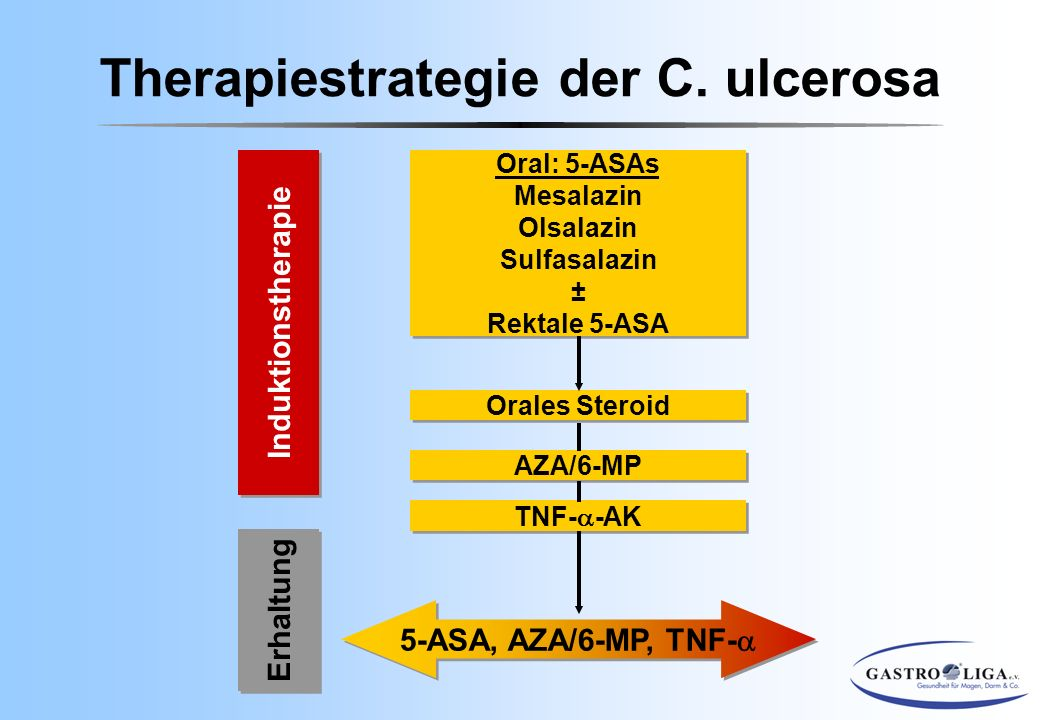 Therapiestrategie der C. ulcerosa