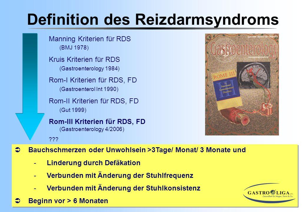 Definition des Reizdarmsyndroms