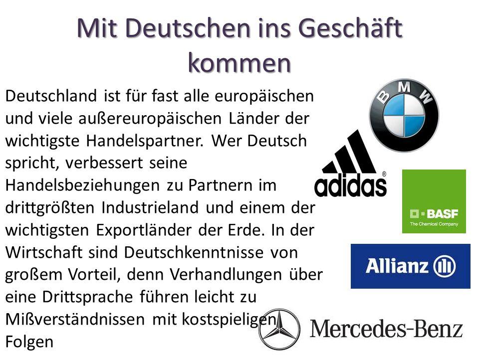 Mit Deutschen ins Geschäft kommen