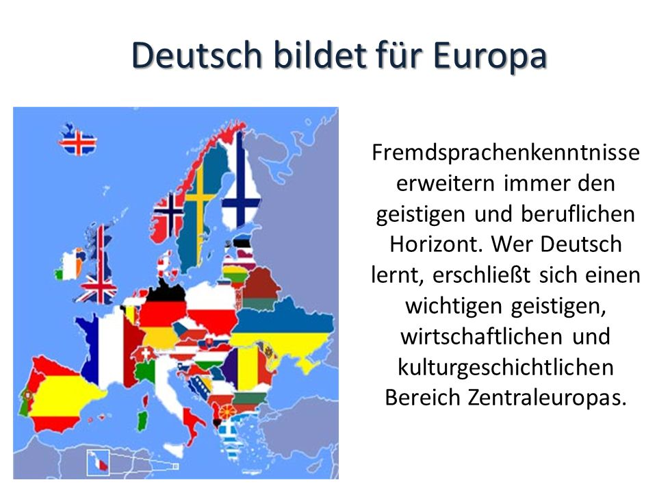 Deutsch bildet für Europa