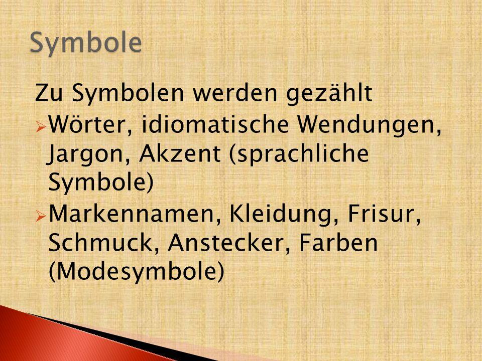 Symbole Zu Symbolen werden gezählt