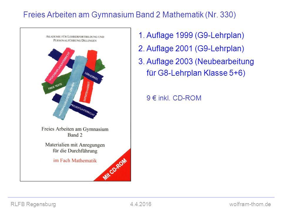 Freies Arbeiten am Gymnasium Band 2 Mathematik (Nr. 330)