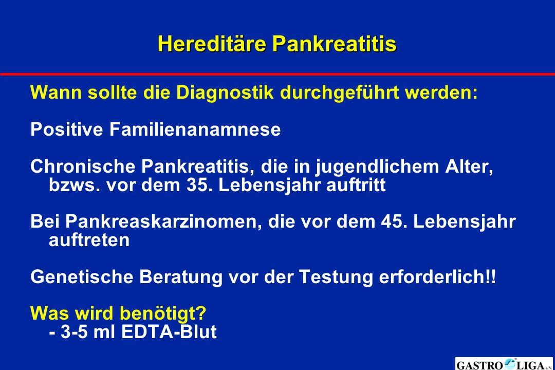 Hereditäre Pankreatitis