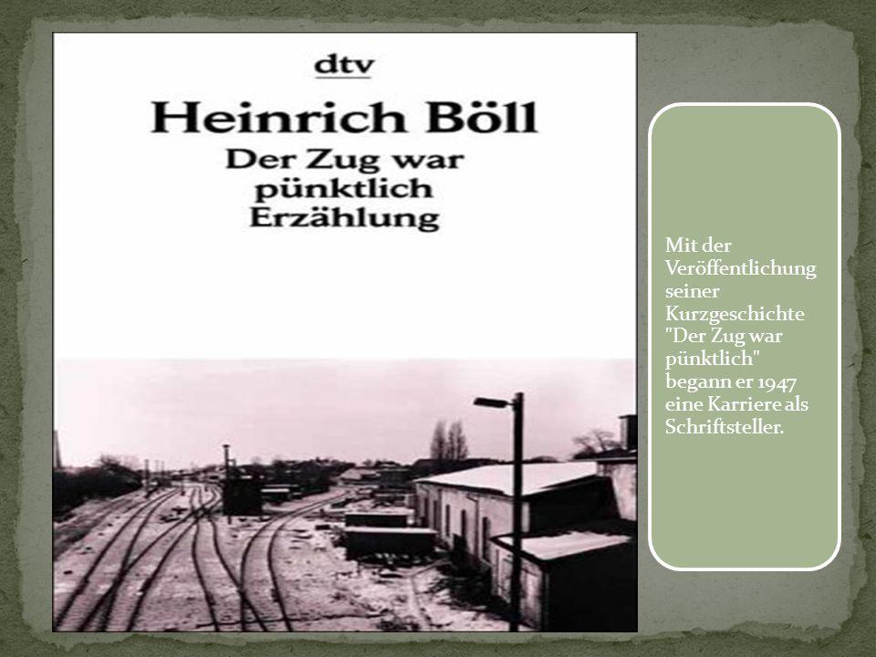 Mit der Veröffentlichung seiner Kurzgeschichte Der Zug war pünktlich begann er 1947 eine Karriere als Schriftsteller.