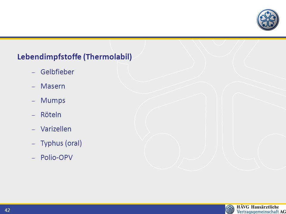 Lebendimpfstoffe (Thermolabil)