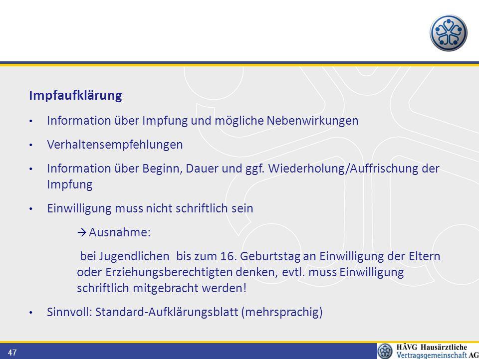 Impfaufklärung Information über Impfung und mögliche Nebenwirkungen