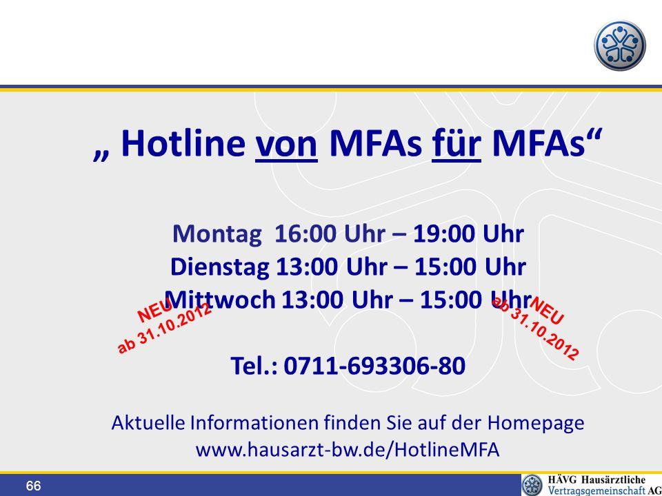 """"""" Hotline von MFAs für MFAs"""