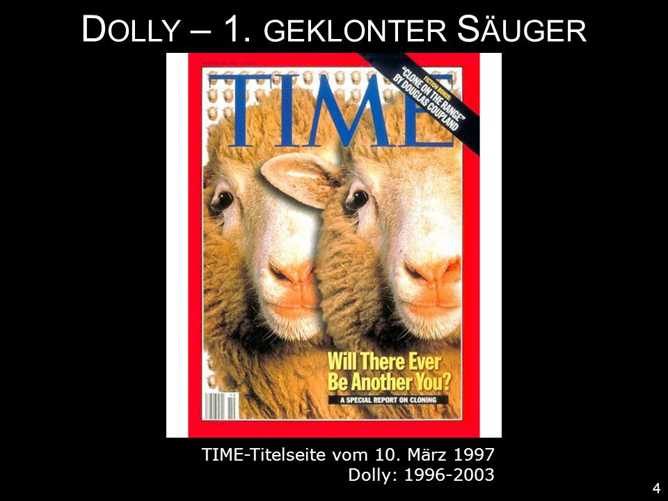 Dolly – 1. geklonter Säuger