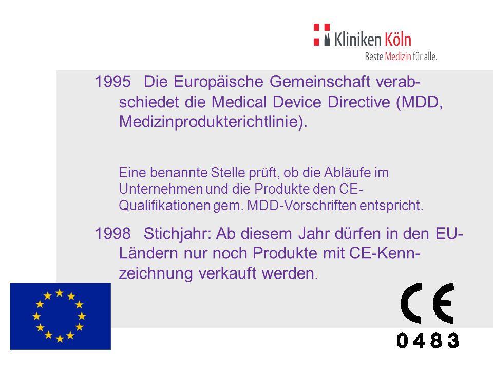 1995. Die Europäische Gemeinschaft verab-