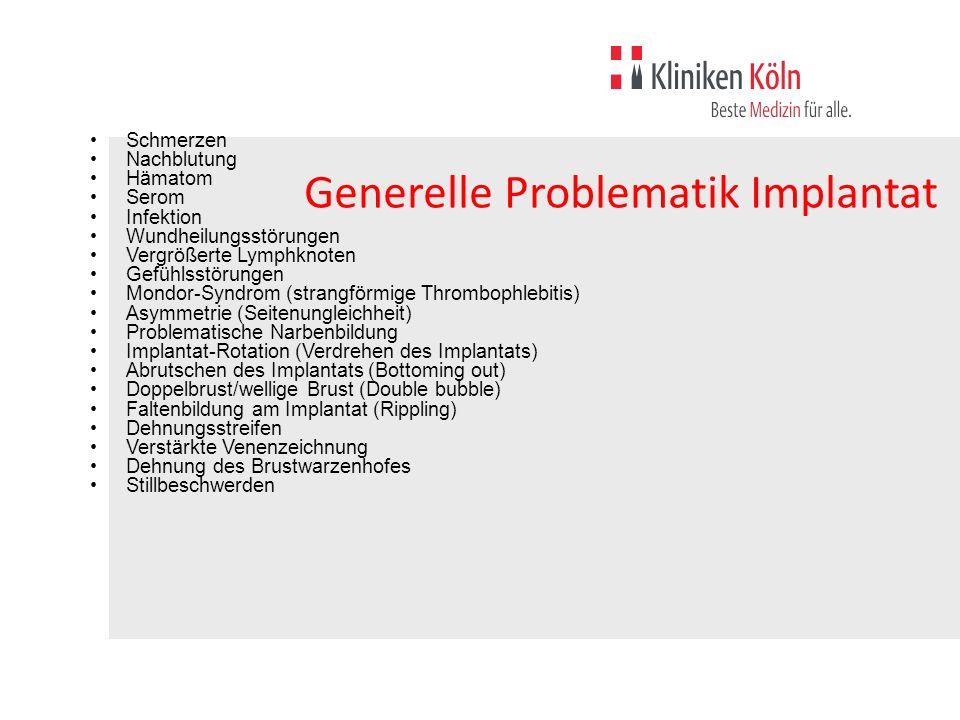 Generelle Problematik Implantat