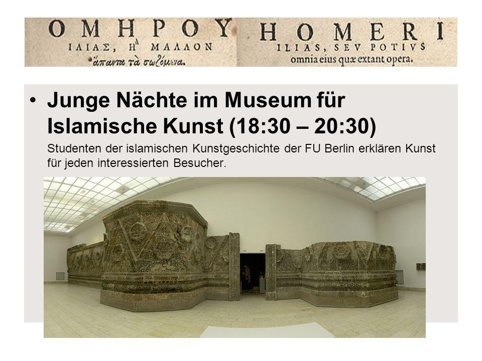 Junge Nächte im Museum für Islamische Kunst (18:30 – 20:30)