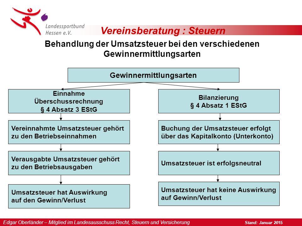 Vereinsberatung : Steuern