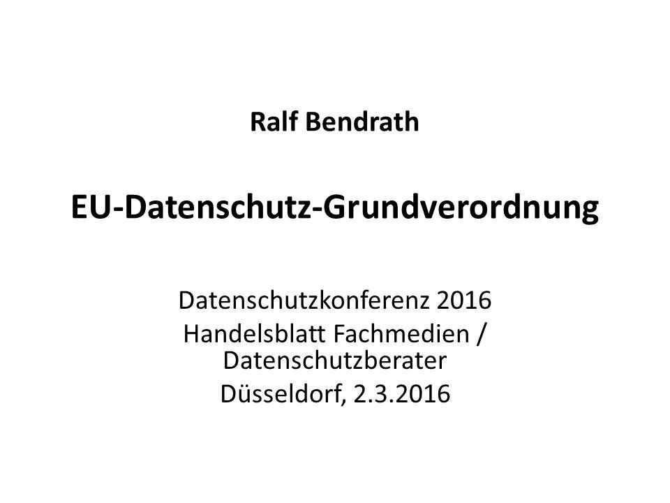 Ralf Bendrath EU-Datenschutz-Grundverordnung