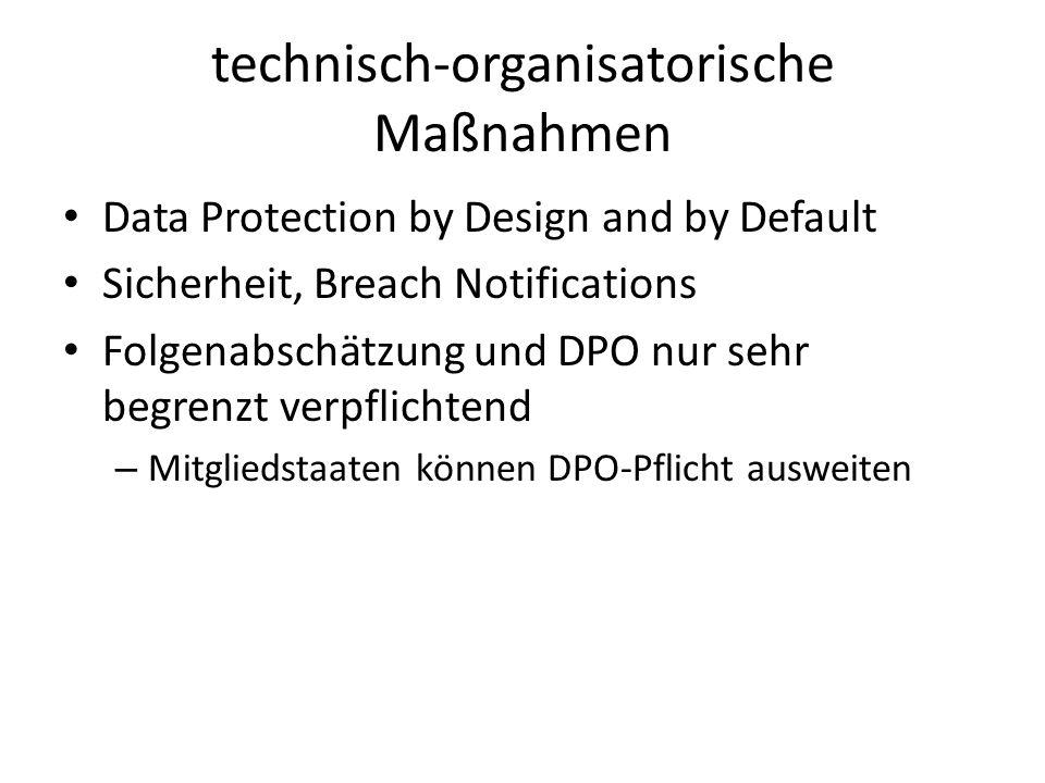 technisch-organisatorische Maßnahmen