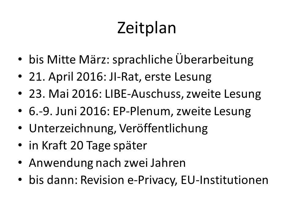 Zeitplan bis Mitte März: sprachliche Überarbeitung