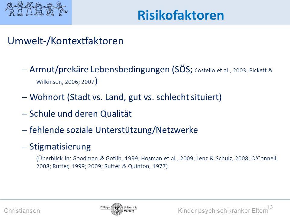 Risikofaktoren Umwelt-/Kontextfaktoren