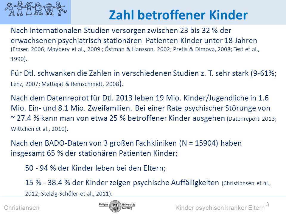 Zahl betroffener Kinder